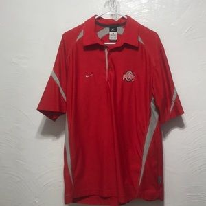 OHIO STATE NIKE DRI FIT POLO